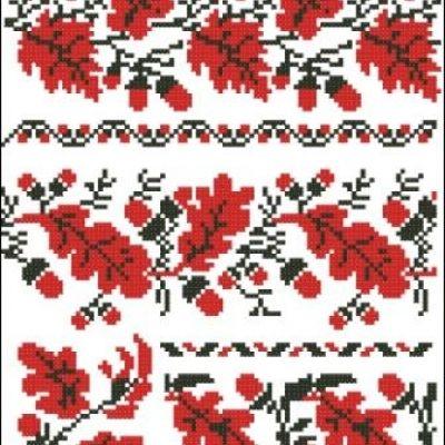 схема вышиванок цветы